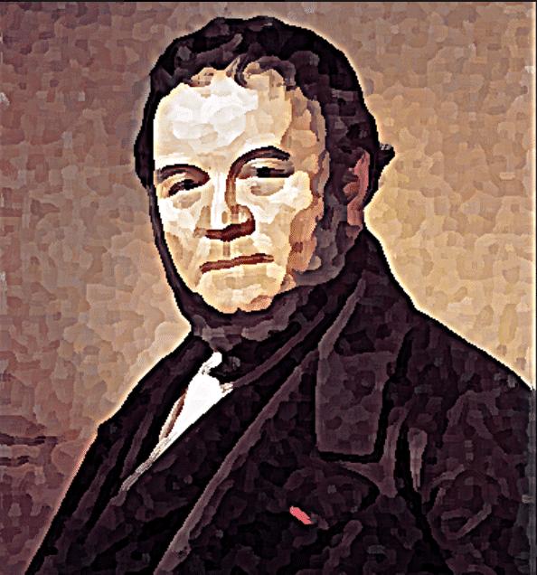 Stendhal biographie, on voit le portrait de profil de l'auetur du Rouge et le Noir.
