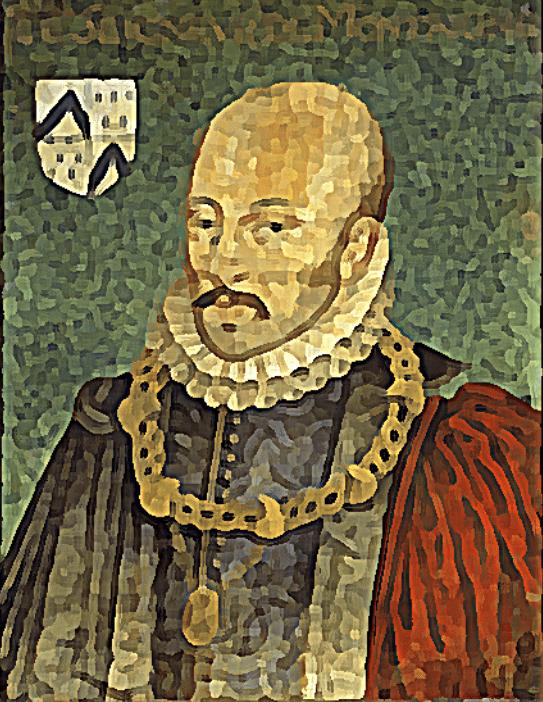 On voit l'auteur des coches et des cannibales dans un portrait officiel.