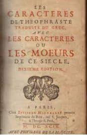 On voit le frontispice des Caractères de La Bruyère en pdf.
